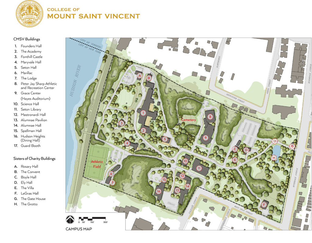 College of Mount Saint Vincent Riverdale Campus Map